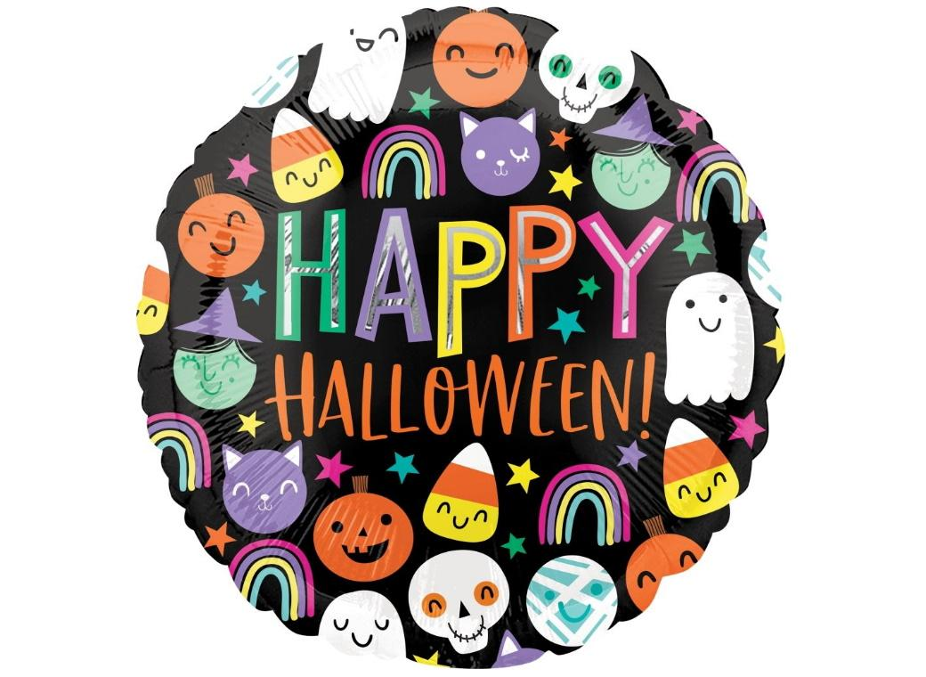 Halloween Happy Faces Foil Balloon