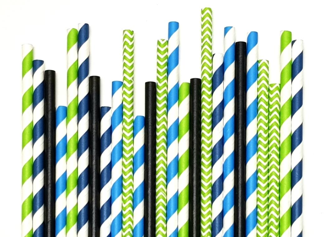 Paper Straws Mix 25pk - Dapper