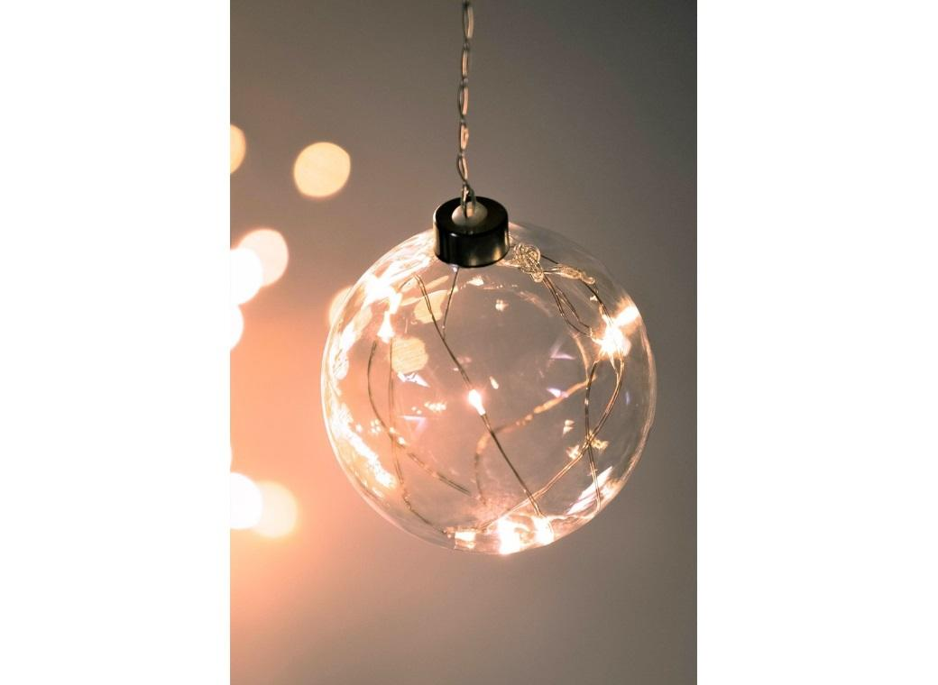 Hanging Glass Sphere Light - Small