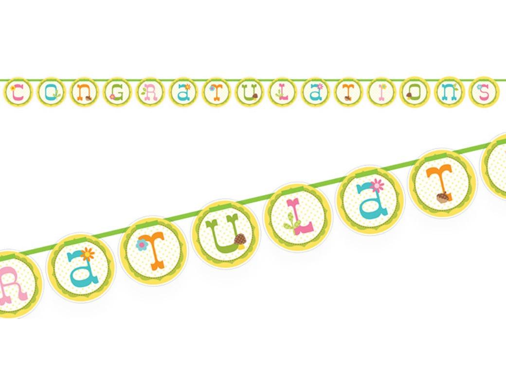 Happi Tree Congratulations Banner