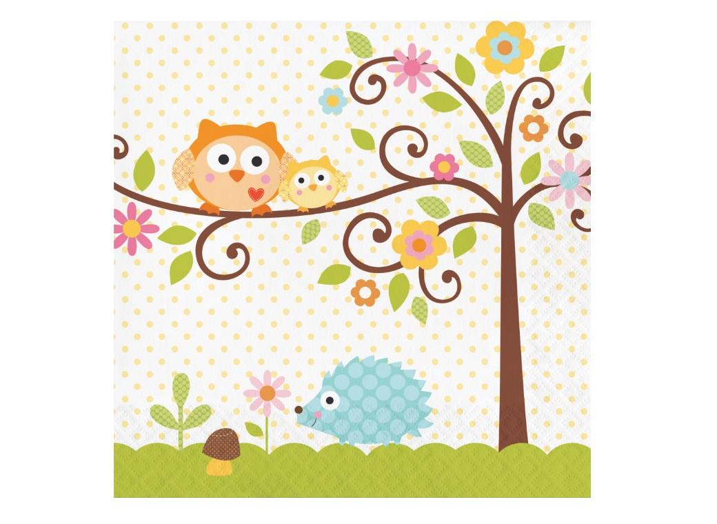 Happi Tree Lunch Napkins 16pk