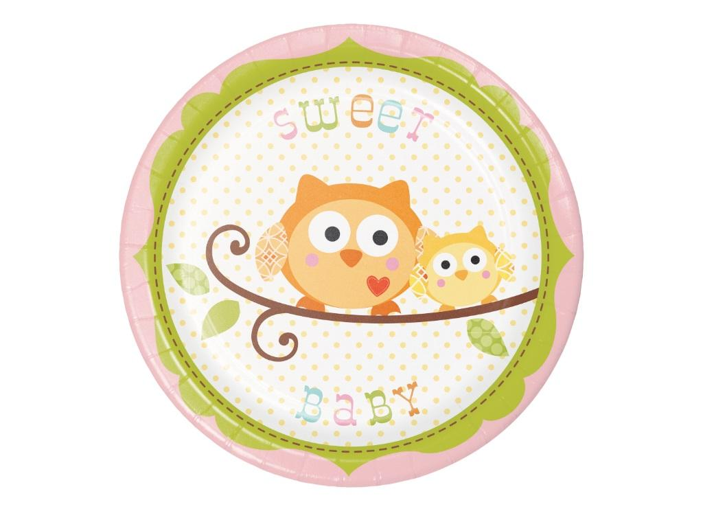 Happi Tree Lunch Plates 8pk Pink