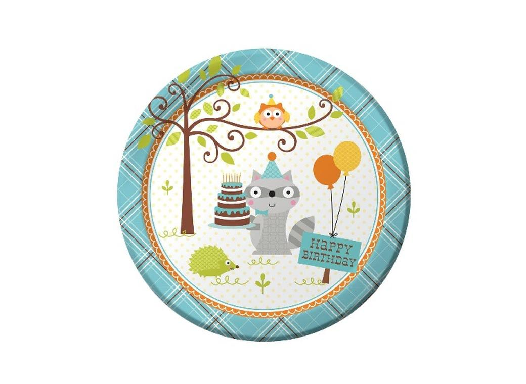 Happi Woodland Boy Dinner Plates - 8pk LAST ONE