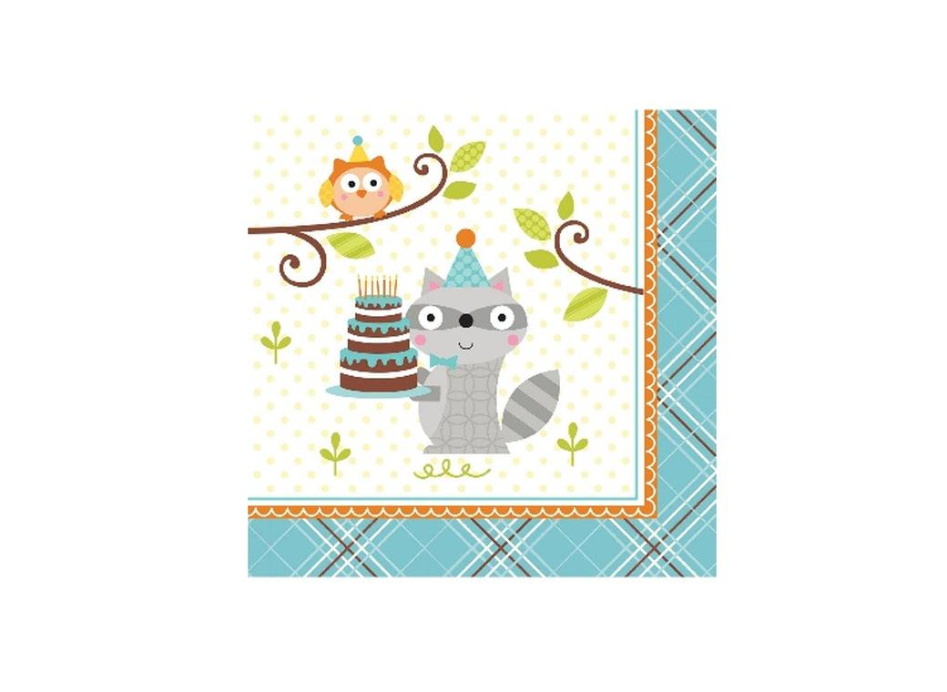 Happi Woodland Boy Beverage Napkins - 16pk