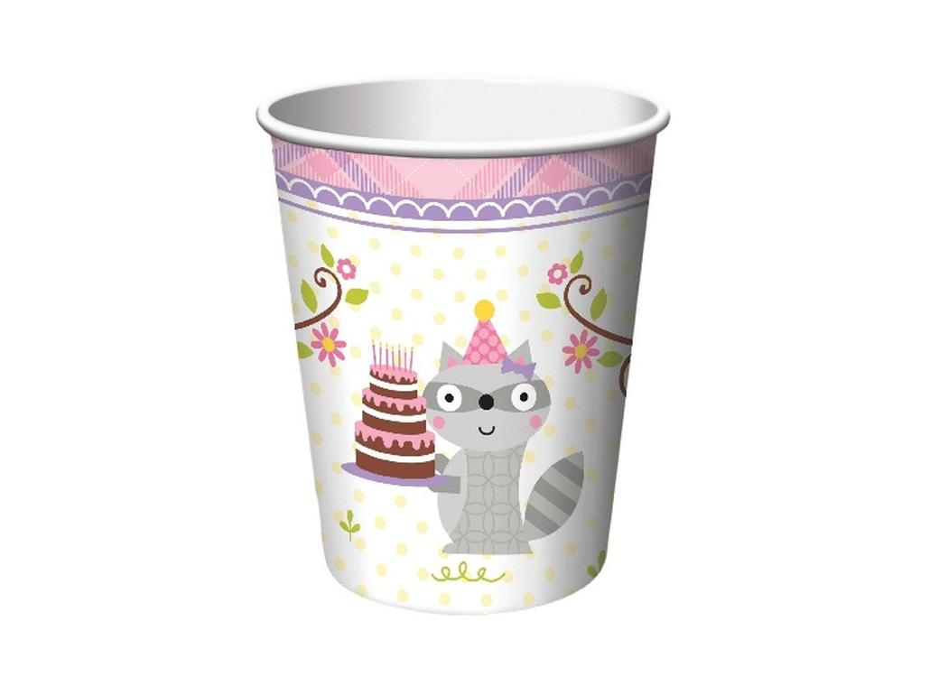Happi Woodland Girl Cups - 8pk