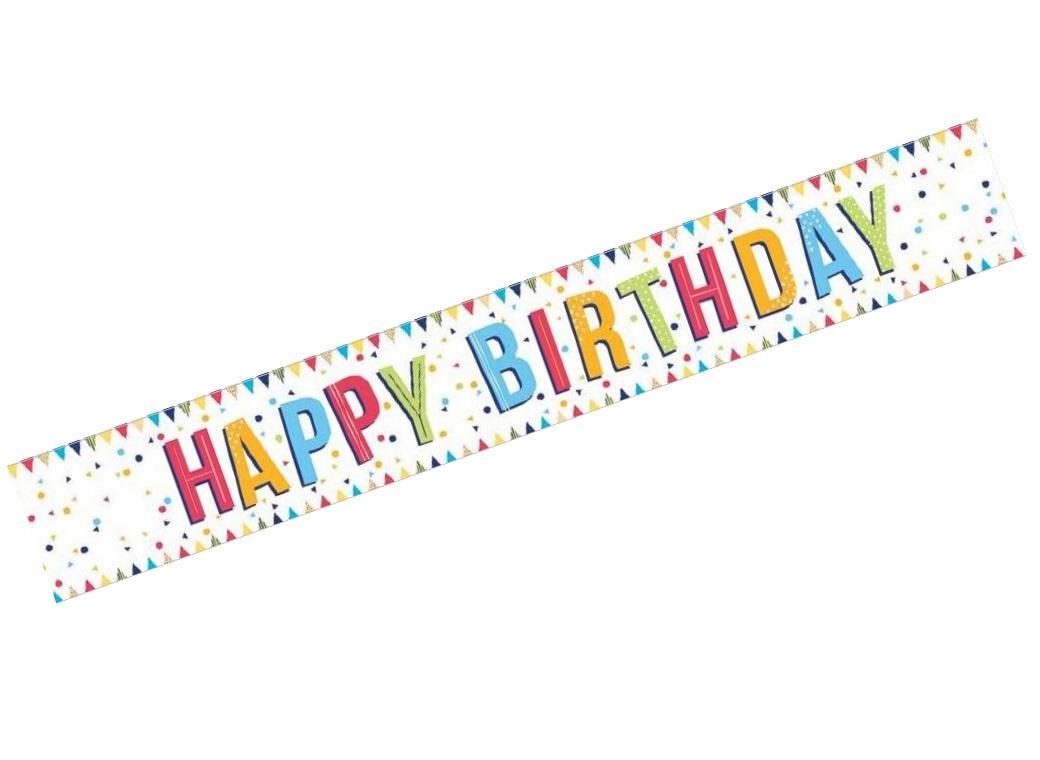 Happy Birthday Banner Confetti Foil