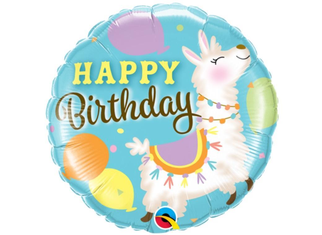 Birthday Llama Foil Balloon