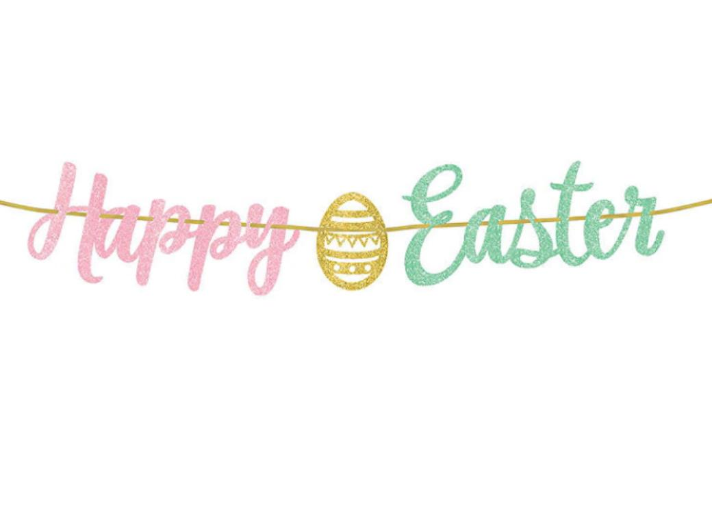 Happy Easter Glitter Banner