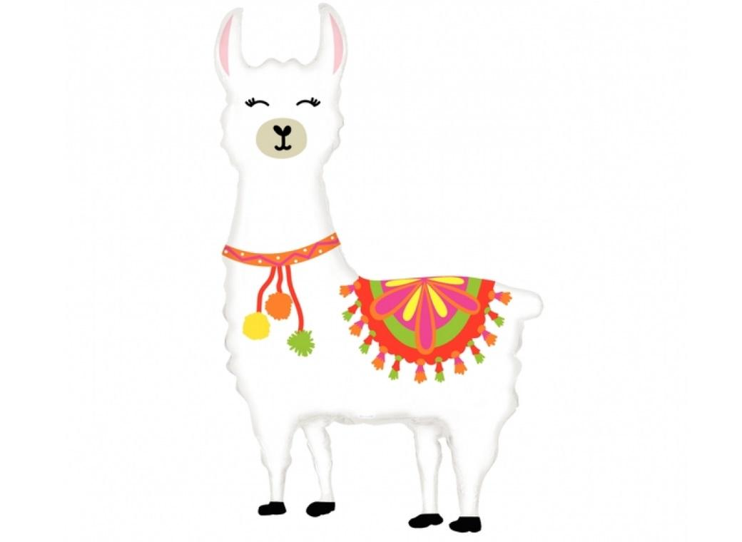Happy Llama SuperShape Foil Balloon