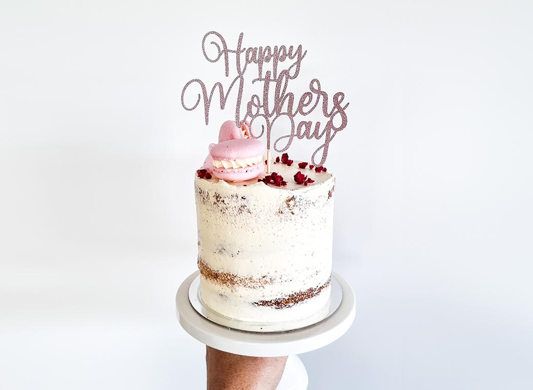 Happy Mother's Day Cake Topper - Rose Gold Glitter