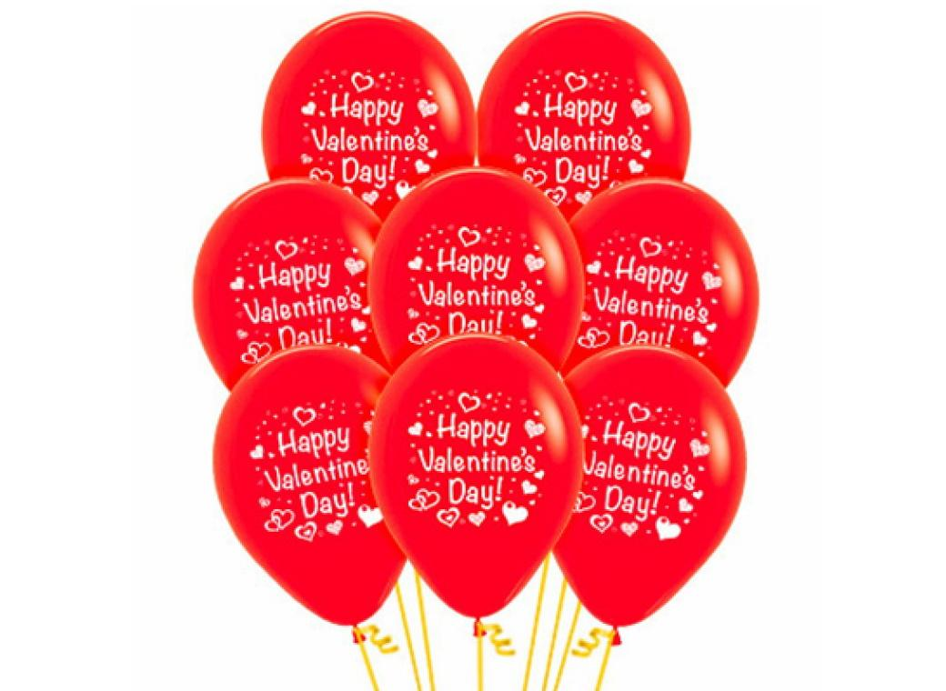 Happy Valentine's Day Balloons 12pk