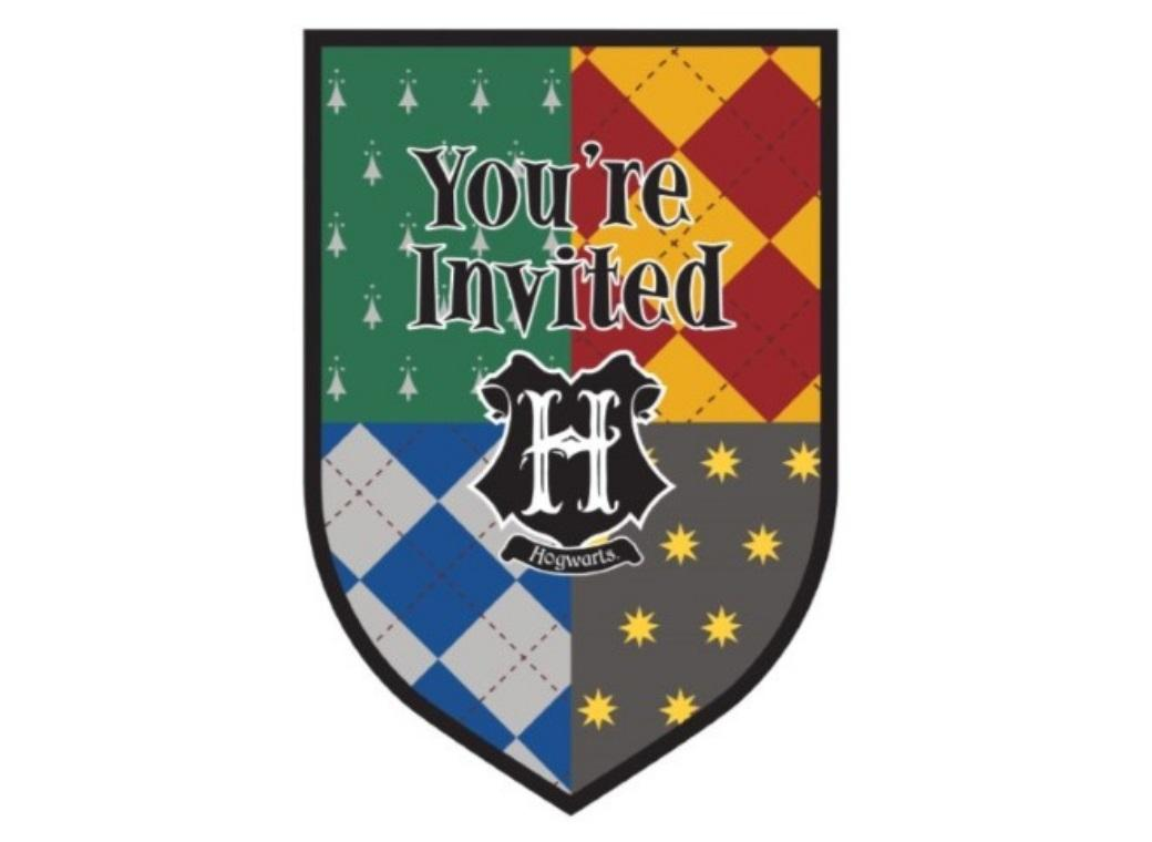 Harry Potter Invitations 8pk