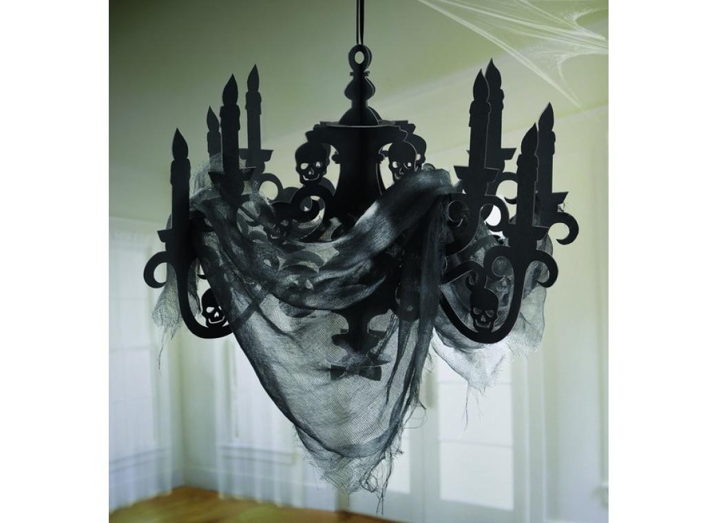 Haunted Mansion Candelabra & Gauze Decoration
