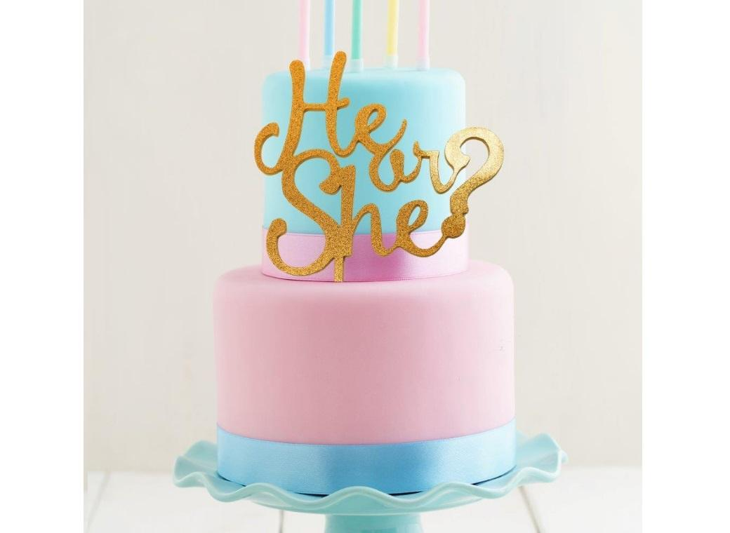 Gold Acrylic Cake Topper