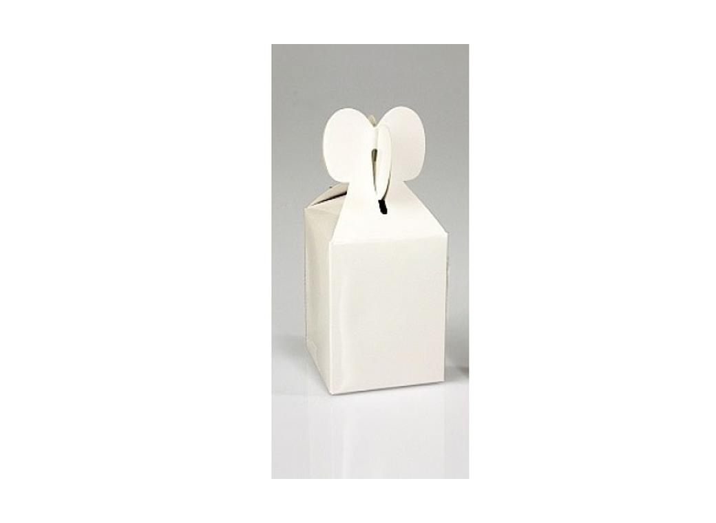Heart Favour Box - Gloss White