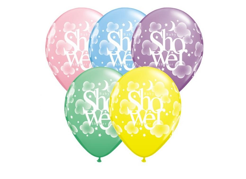 Heavenly Baby Shower Balloons - 5pk