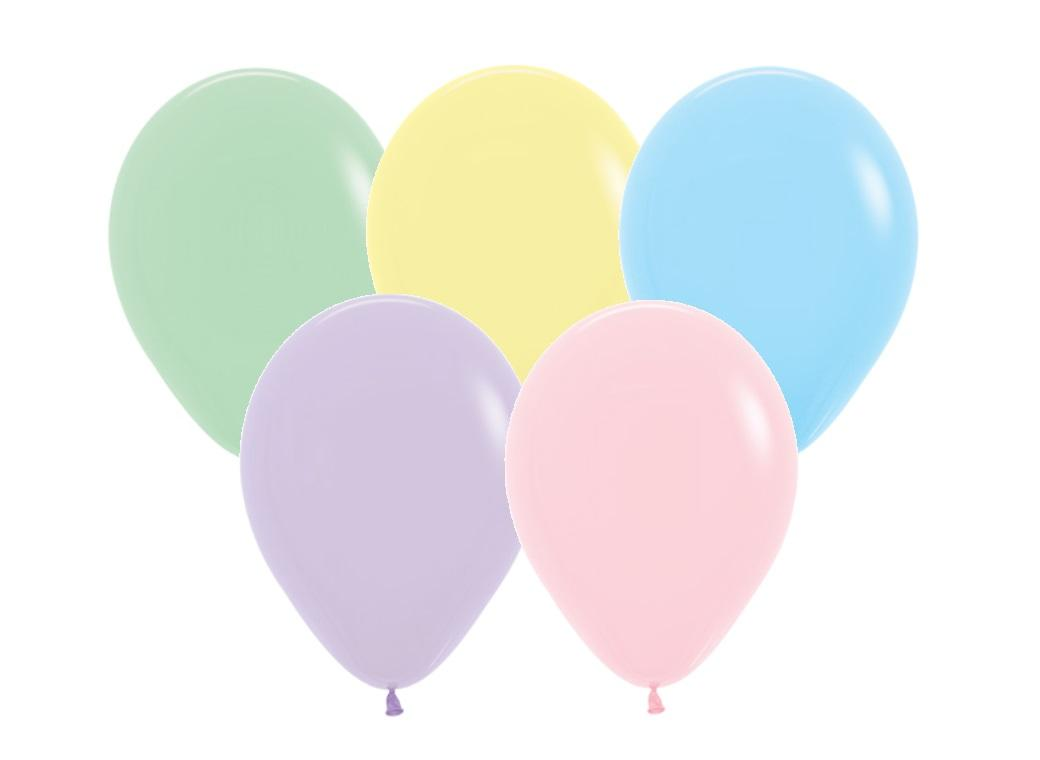 Pastel Assorted Balloons - 25pk