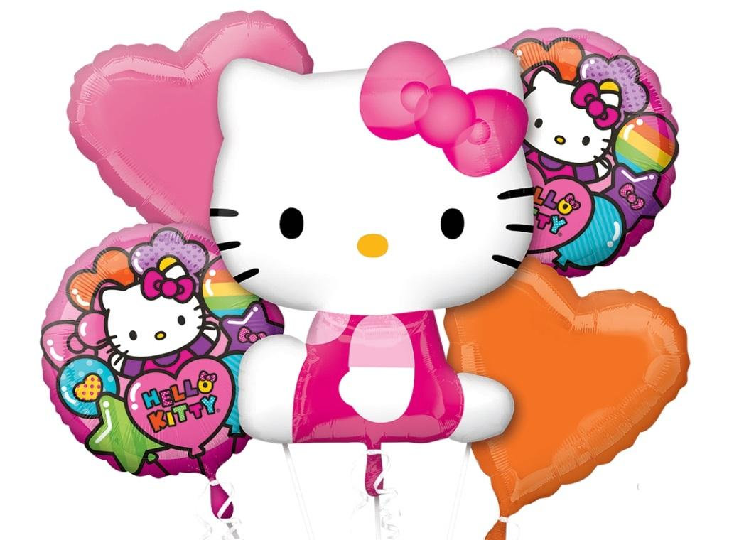 Hello Kitty Foil Balloon Bouquet
