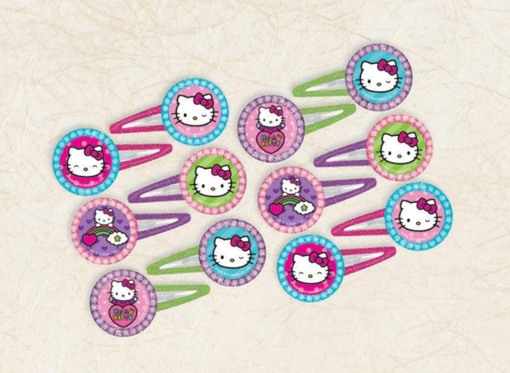 Hello Kitty Hair Clips 12pk