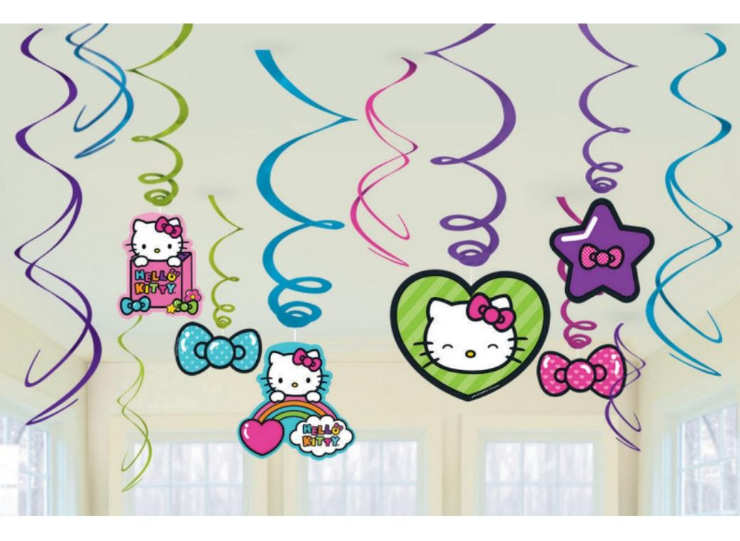 Hello Kitty Hanging Swirl Decorations