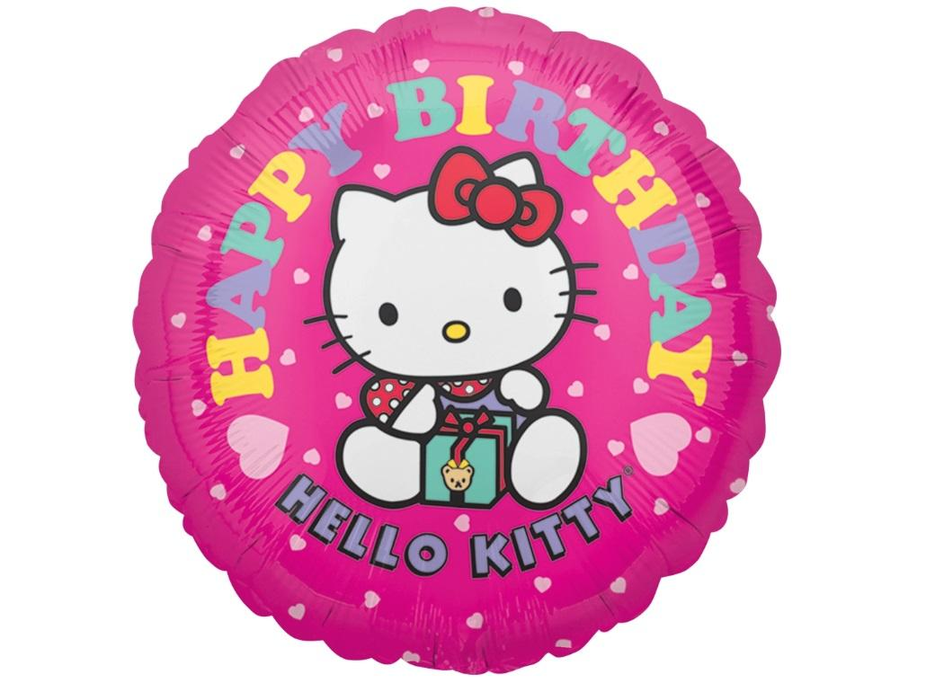 Hello Kitty Hearts Birthday Foil Balloon