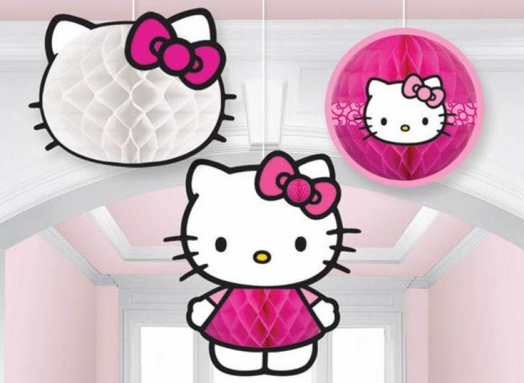Hello Kitty Hanging Honeycomb Decorations