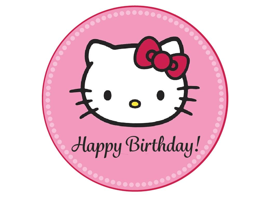 Edible Icing Image - Hello Kitty Round