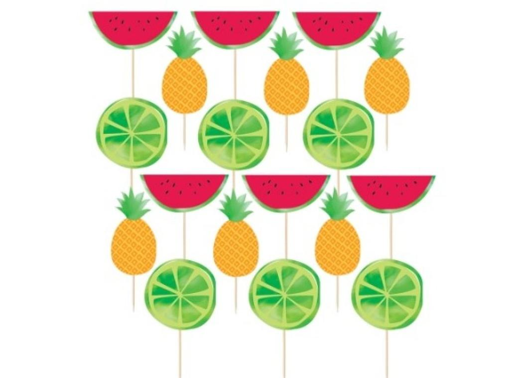 Hello Summer Fruit Food Picks 24pk