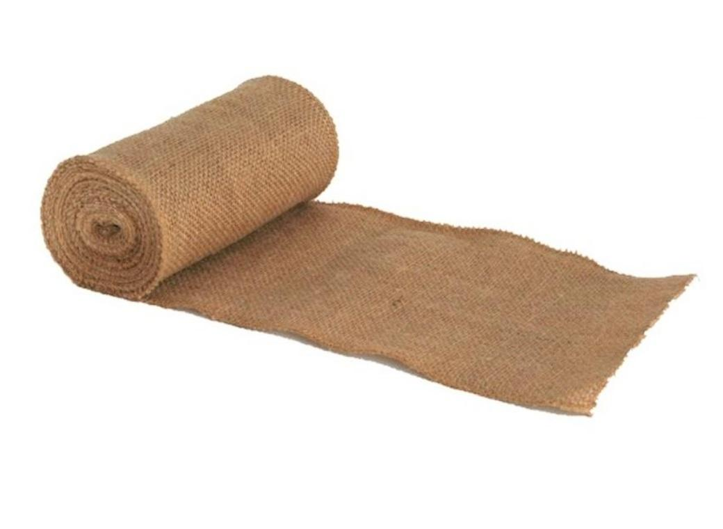 Natural Burlap Roll - 15cm x 9m