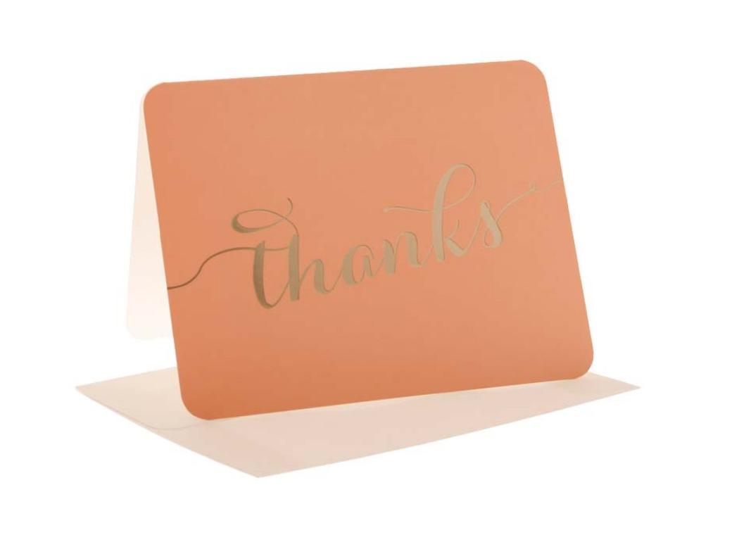 hiPP Thank You Cards - Peach & Gold