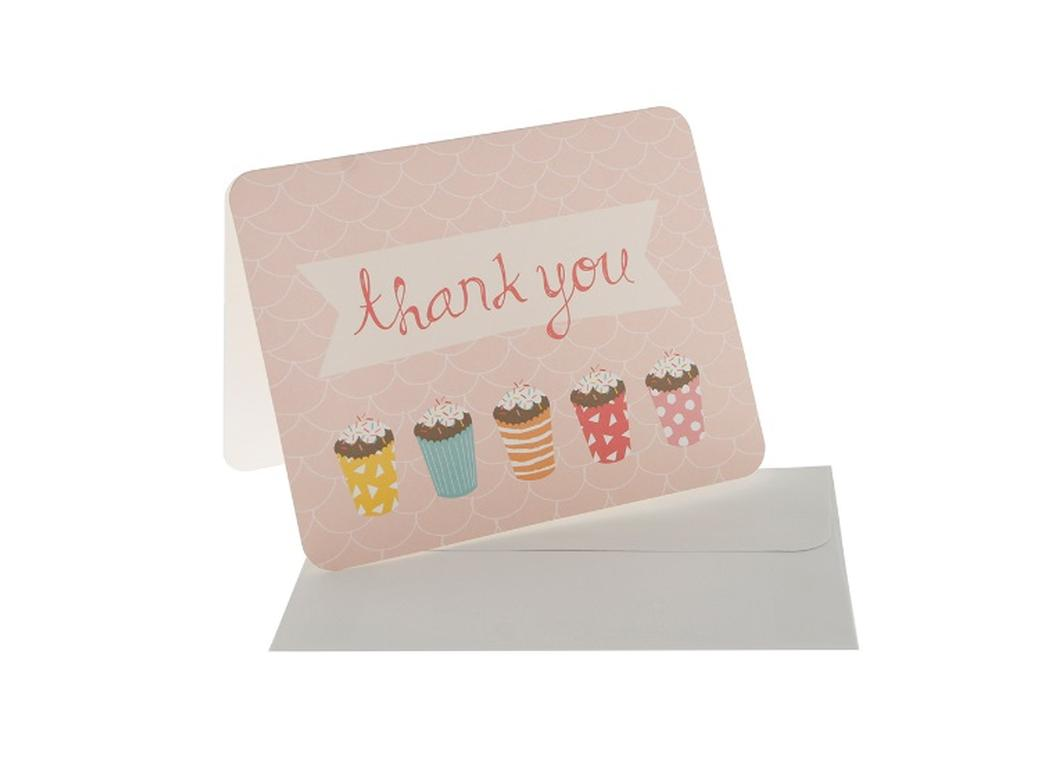 hiPP Sprinkles Pink Thank You Cards