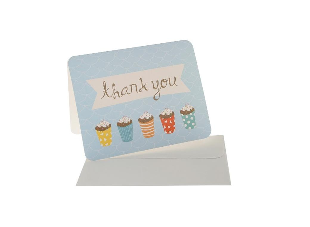 hiPP Sprinkles Blue Thank You Cards