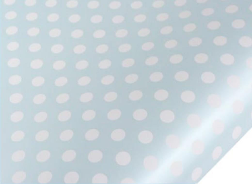 Table Runner / Gift Wrap - Pearl Blue Spots