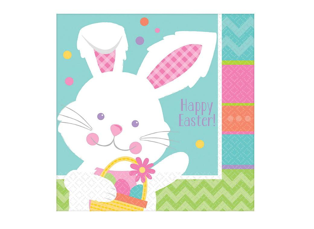Hippity Hop Easter Lunch Napkins 16pk