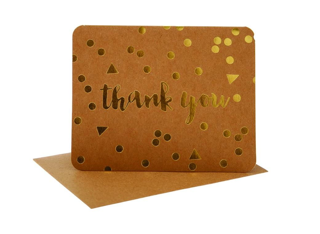 hiPP Thank You Cards - Kraft Confetti