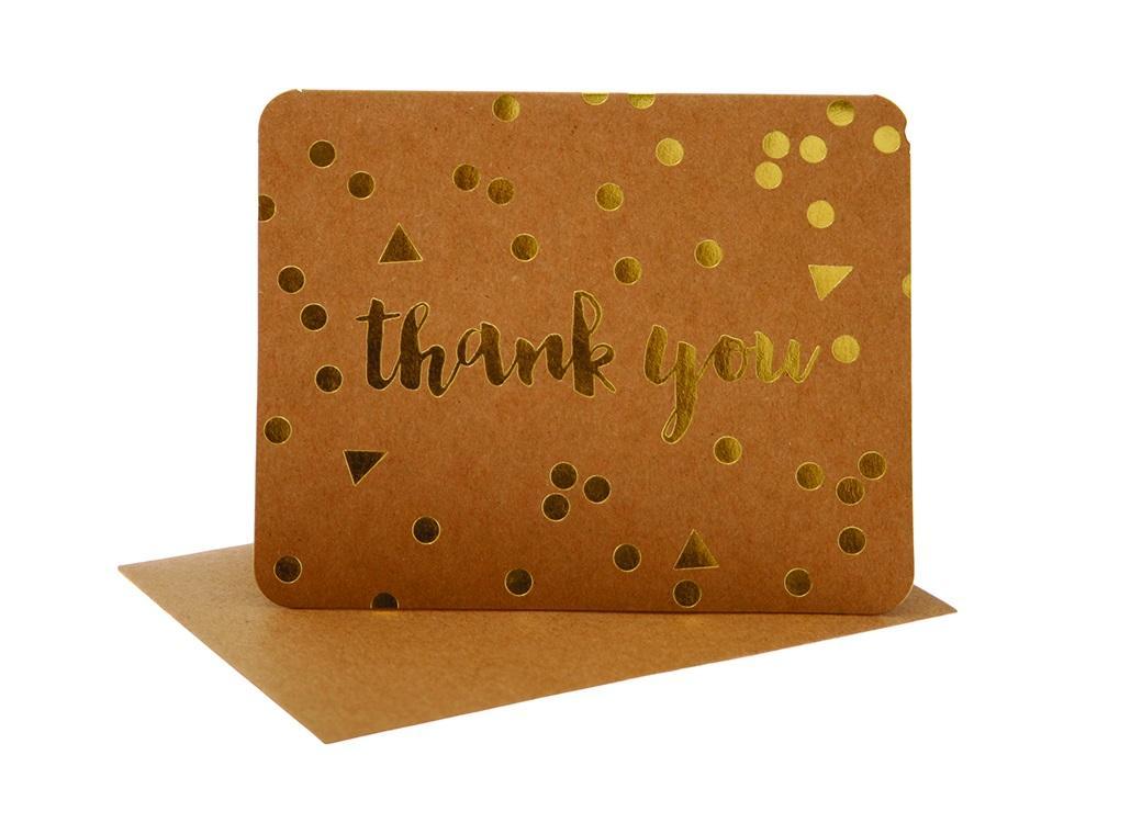 hiPP Thank You Cards - Kraft Confetti