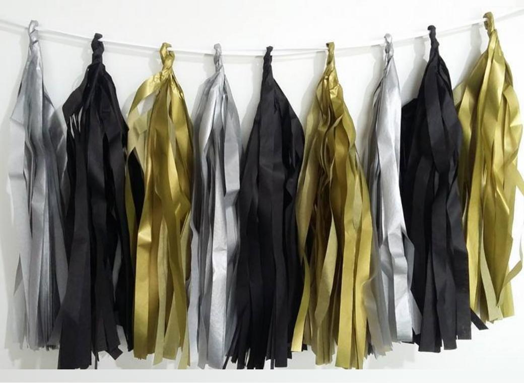 Tissue Tassel Garland - Hollywood