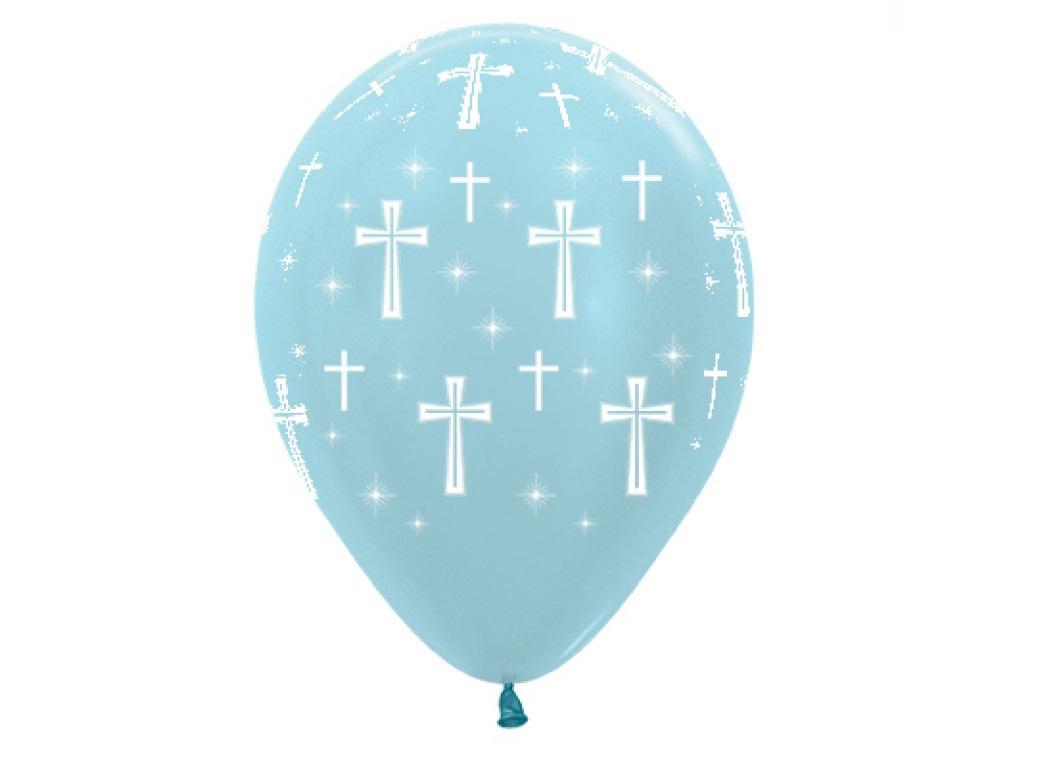 Holy Cross Balloons Blue 6pk