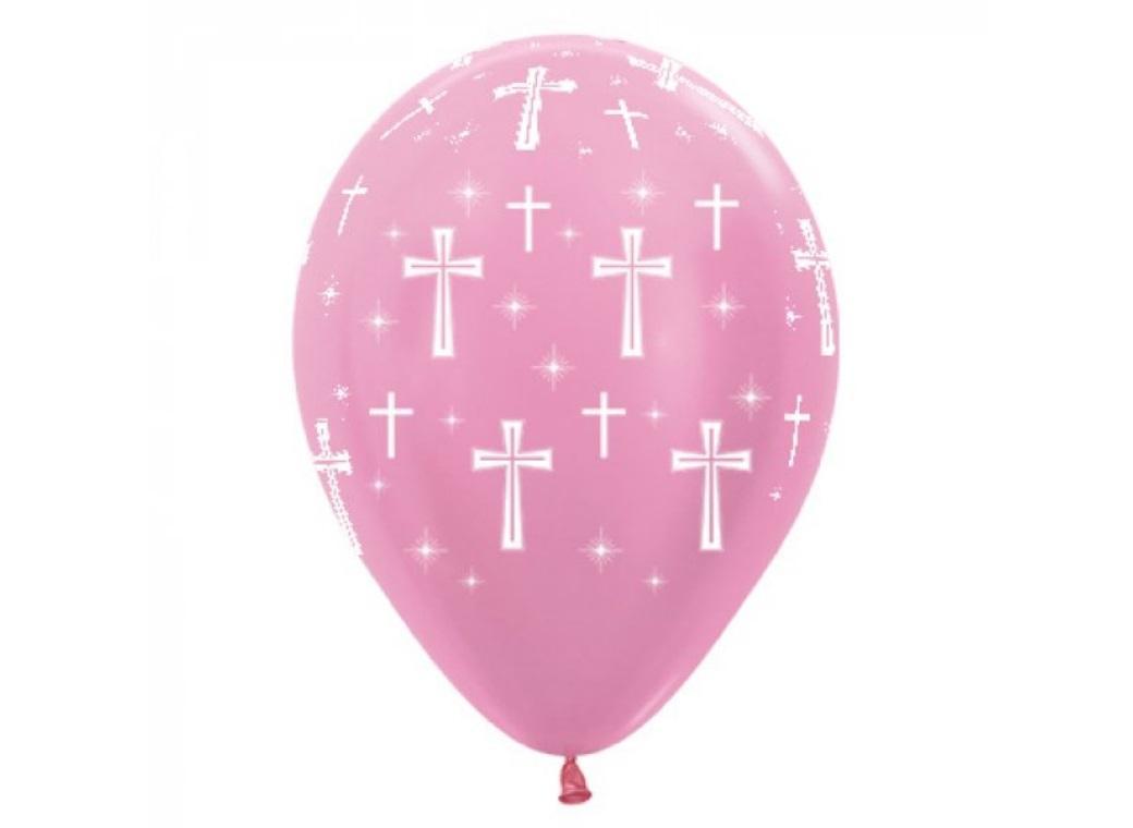 Holy Cross Balloons Pink 6pk