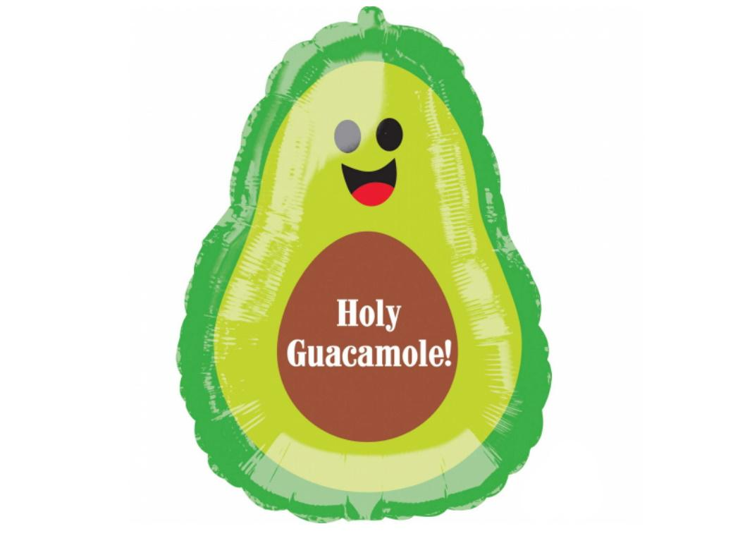 Holy Guacamole Avocado SuperShape Foil Balloon