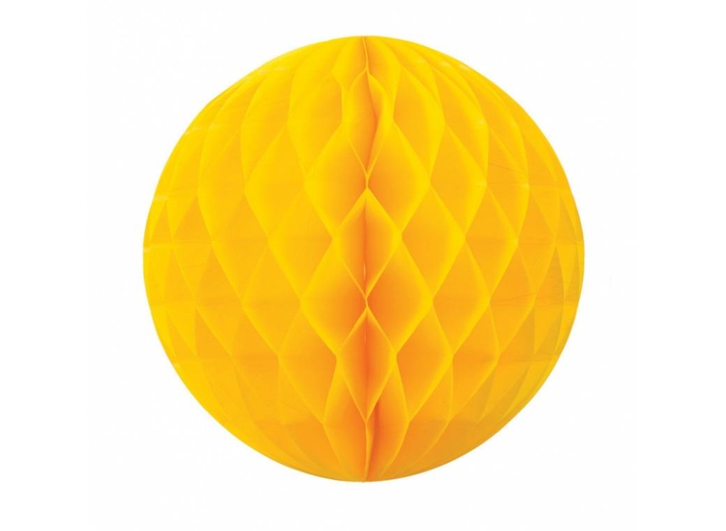 Tissue Honeycomb Ball 25cm - Yellow