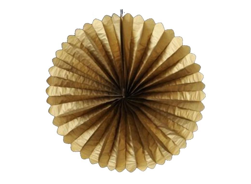 """Paper Fan 16"""" - Gold"""