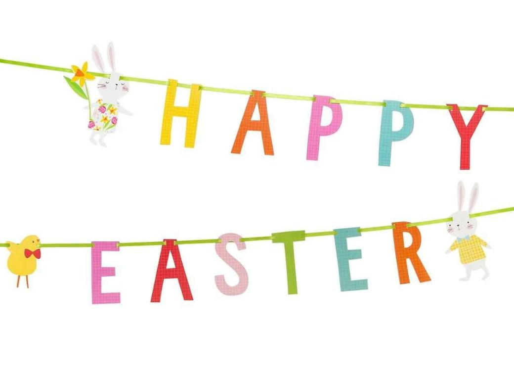 Hop To It Happy Easter Banner