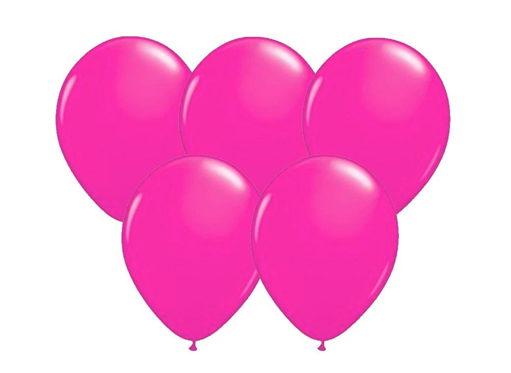 25pk Balloons - Hot Pink