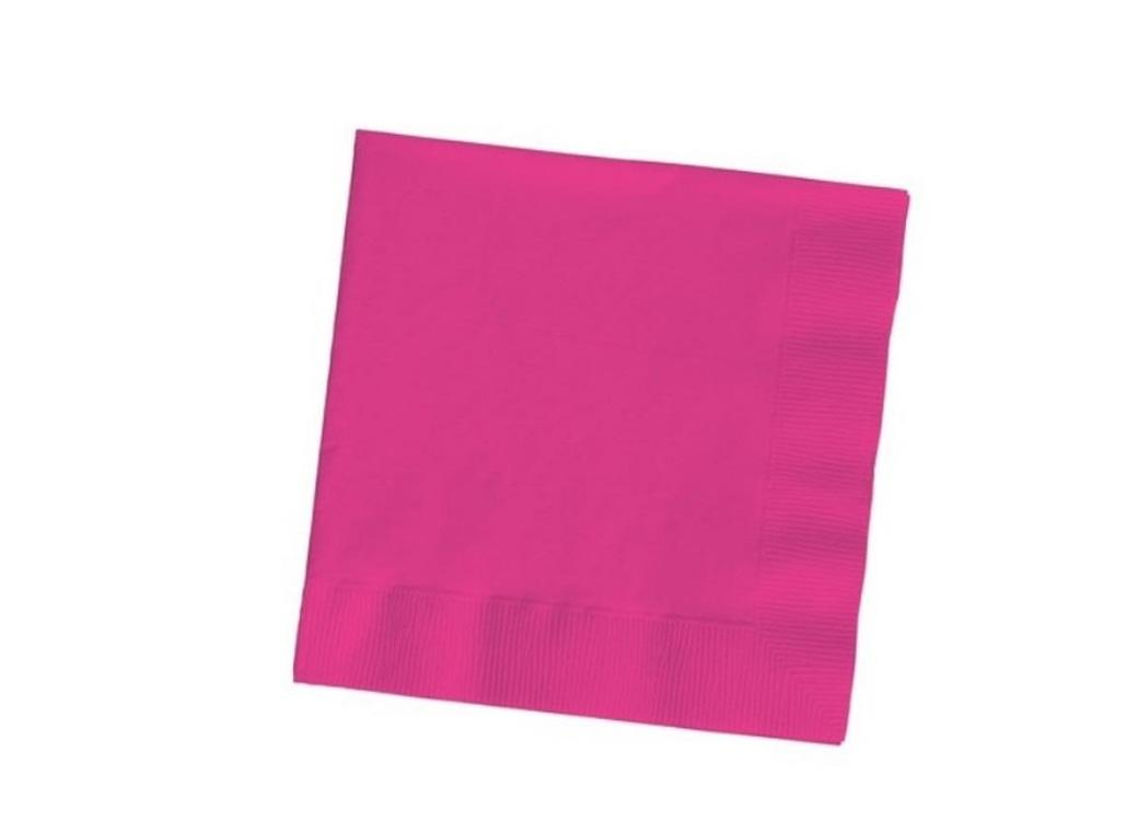 Hot Pink Beverage Napkins 20pk