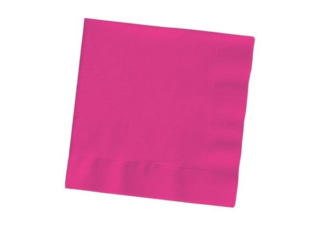 Hot Pink Lunch Napkins - 20 Pack