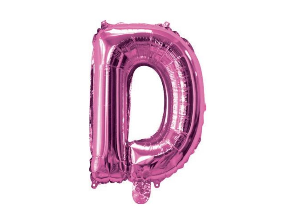 Mini Hot Pink Foil Balloon - Letter D