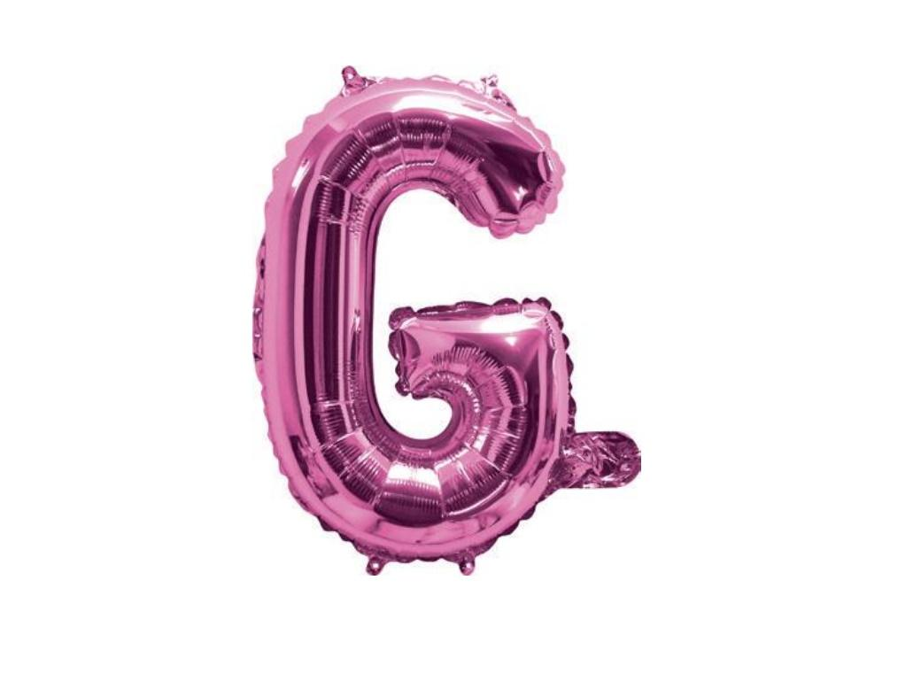 Mini Hot Pink Foil Balloon - Letter G
