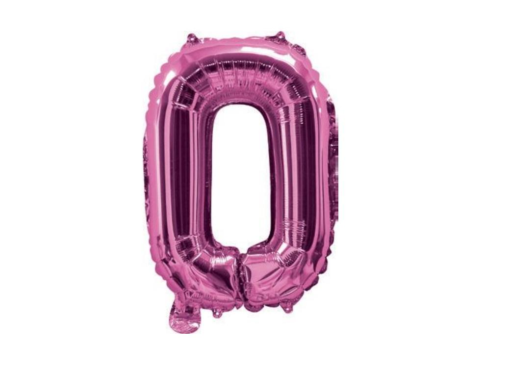 Mini Hot Pink Foil Balloon - Letter O