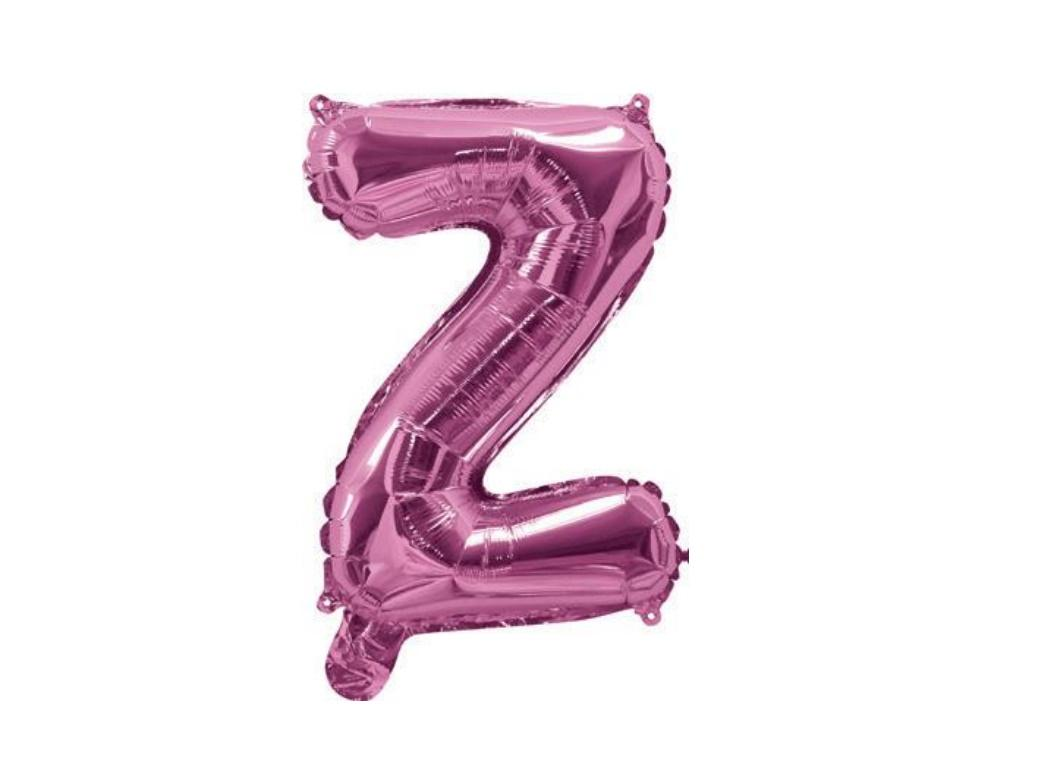 Mini Hot Pink Foil Balloon - Letter Z